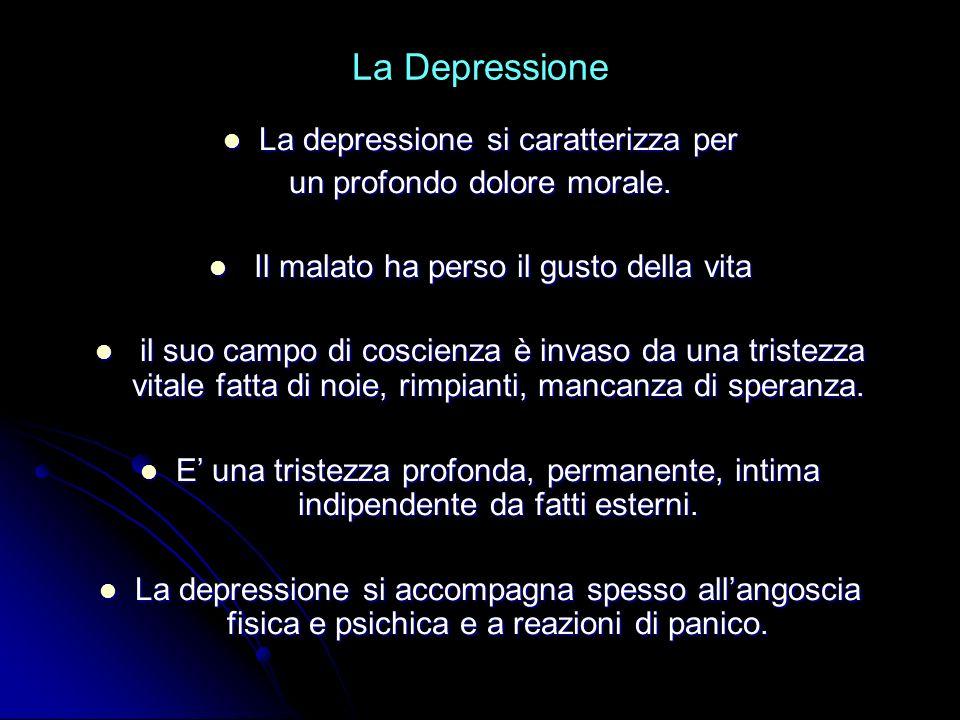 La Depressione La depressione si caratterizza per