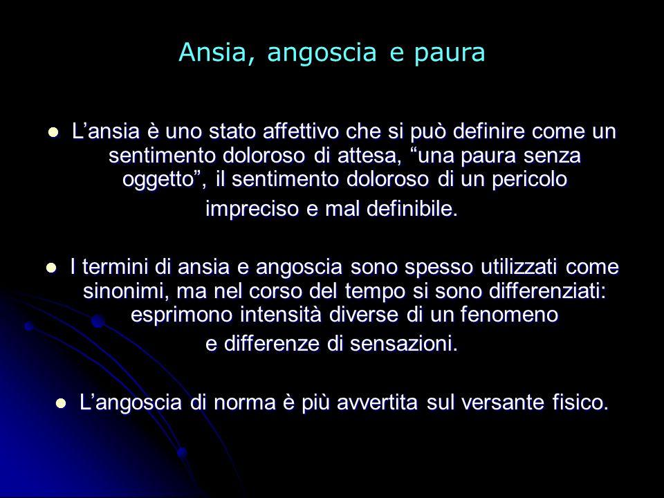 Ansia, angoscia e paura