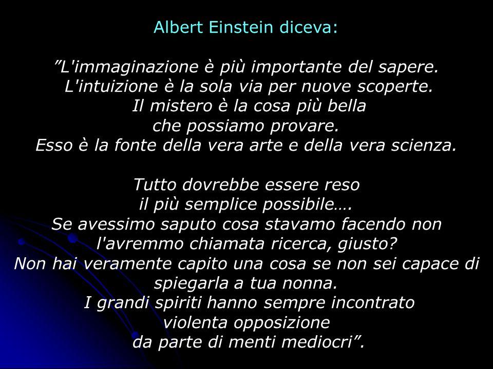 Albert Einstein diceva: L immaginazione è più importante del sapere.