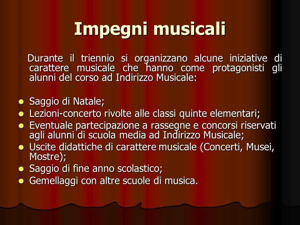 Impegni musicali