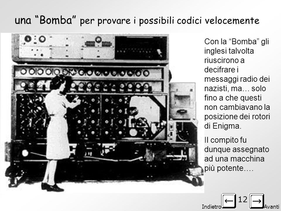 una Bomba per provare i possibili codici velocemente