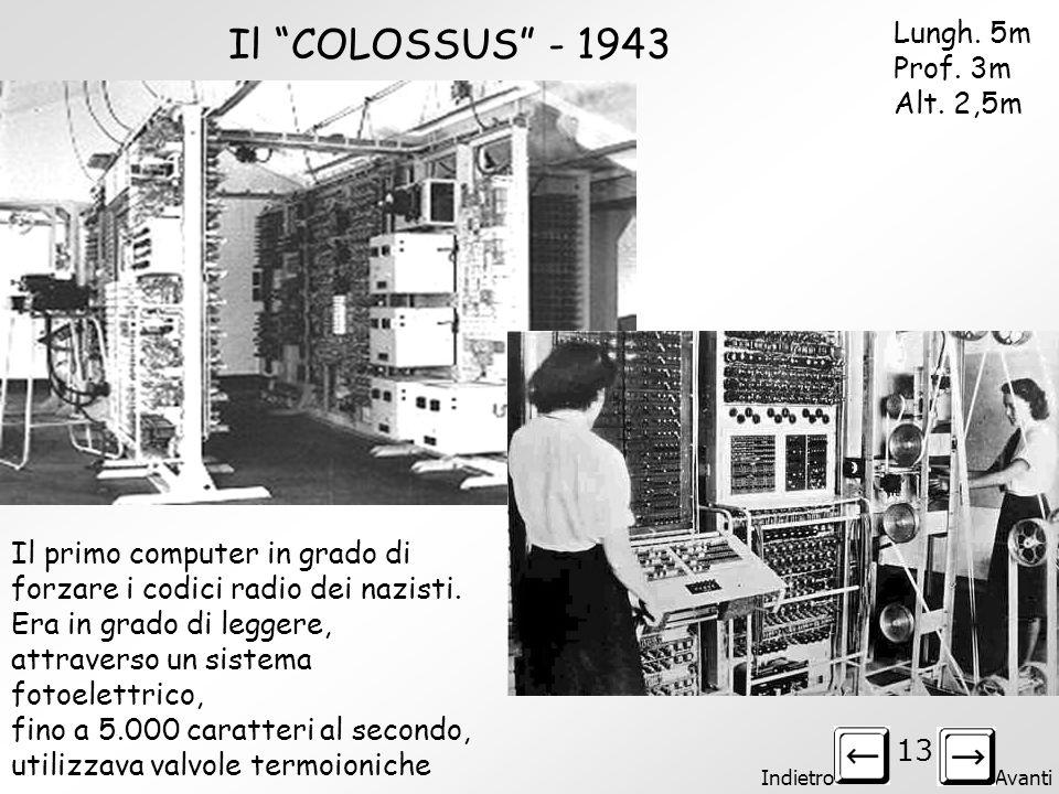 Il COLOSSUS - 1943 Lungh. 5m Prof. 3m Alt. 2,5m