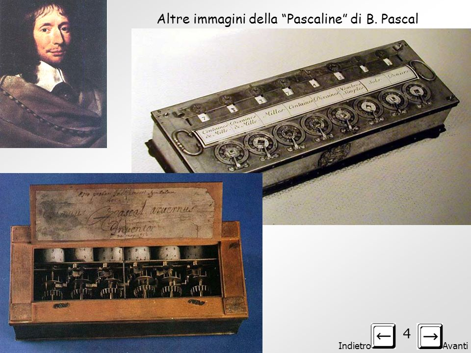 Altre immagini della Pascaline di B. Pascal