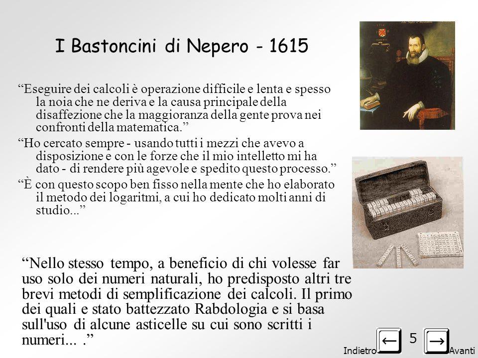 I Bastoncini di Nepero - 1615