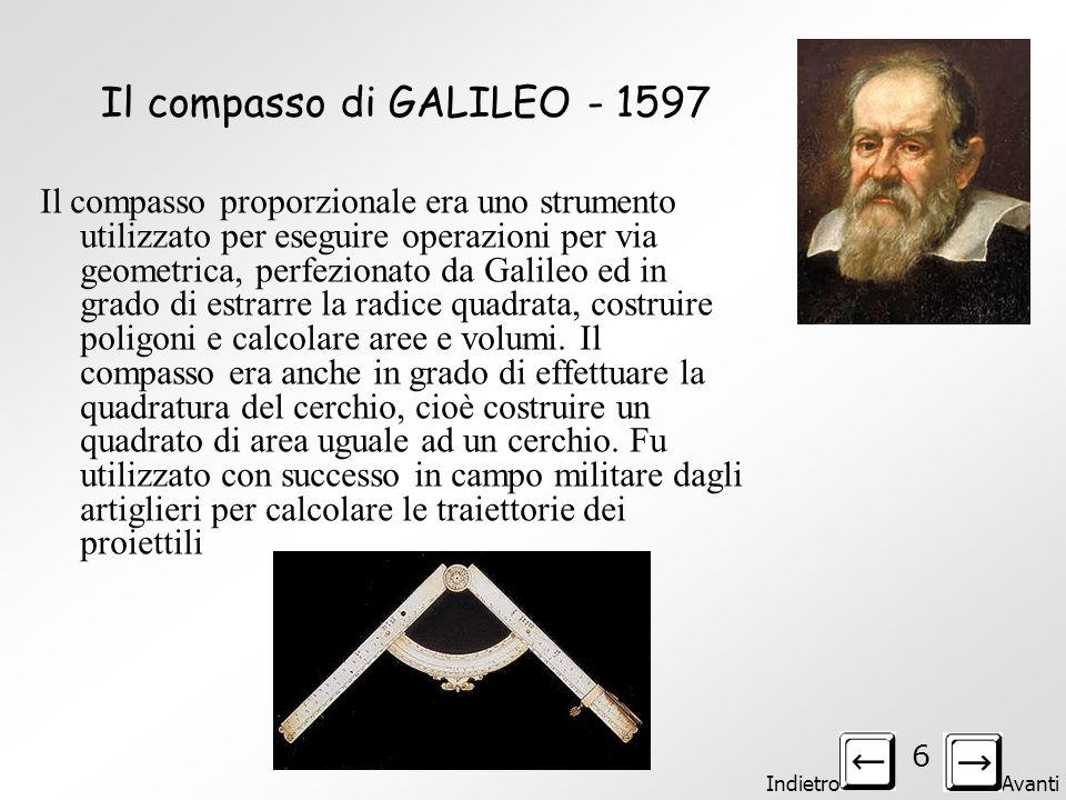 Il compasso di GALILEO - 1597