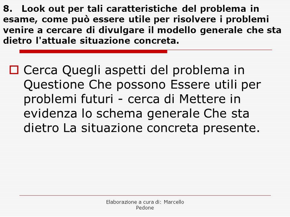 Elaborazione a cura di: Marcello Pedone