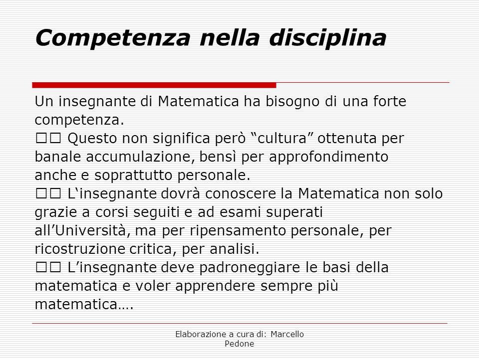 Competenza nella disciplina