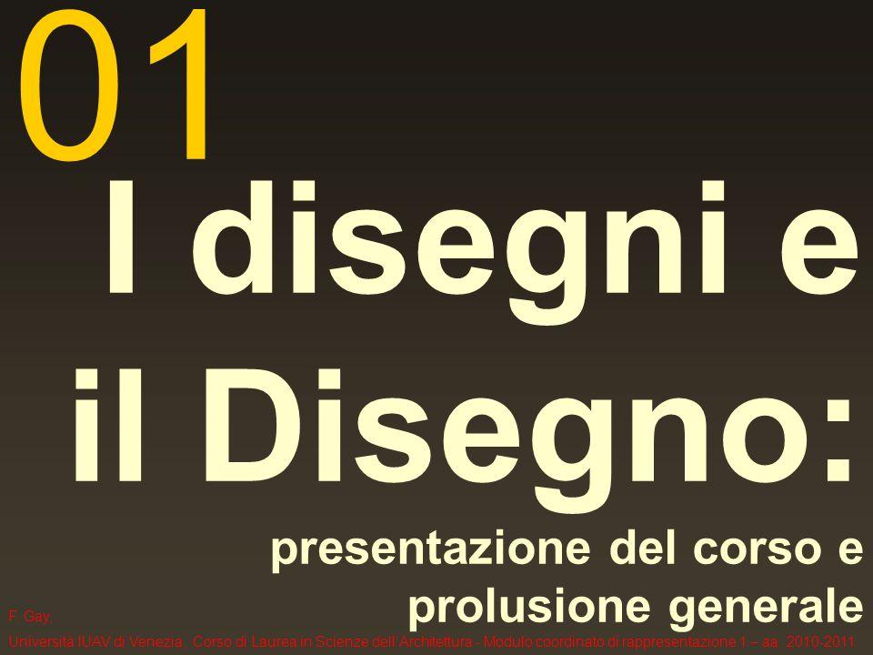 I disegni e il Disegno: presentazione del corso e prolusione generale