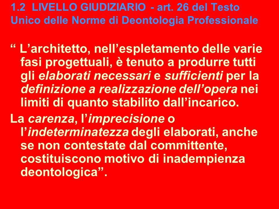 1. 2 LIVELLO GIUDIZIARIO - art