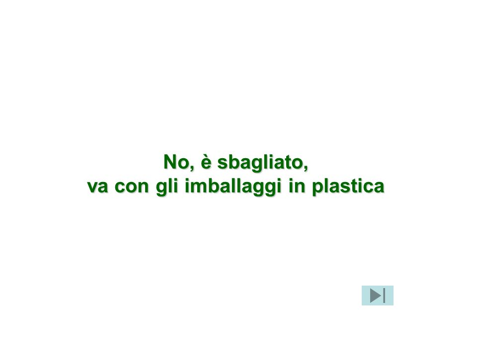 va con gli imballaggi in plastica