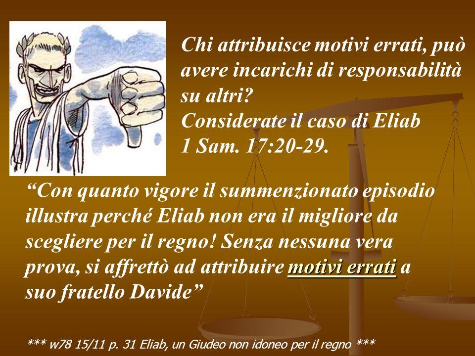 Considerate il caso di Eliab 1 Sam. 17:20-29.