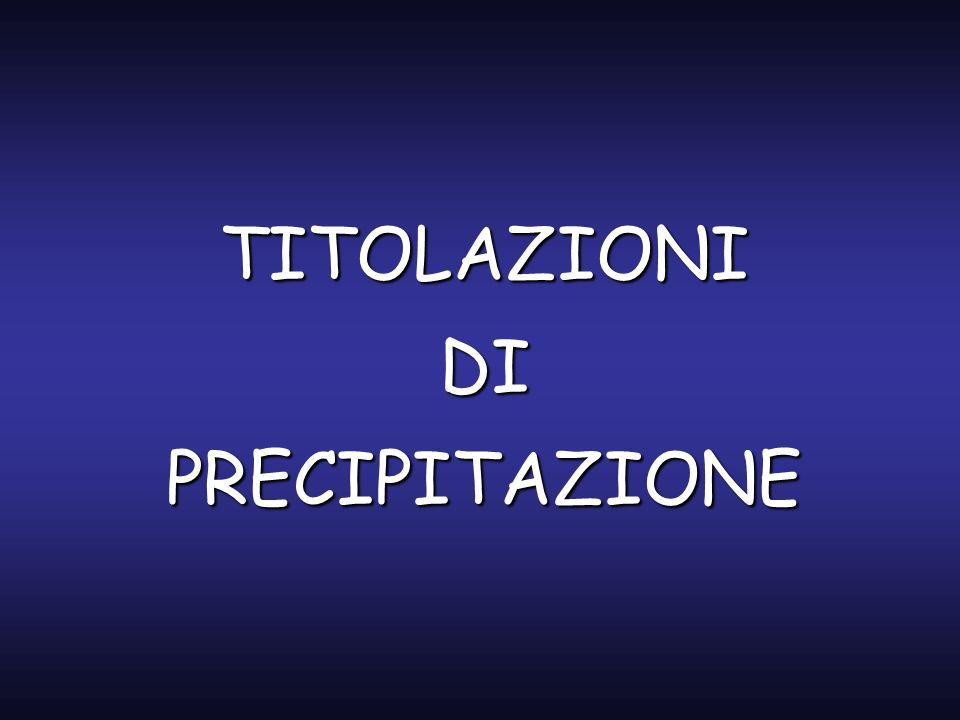 TITOLAZIONI DI PRECIPITAZIONE