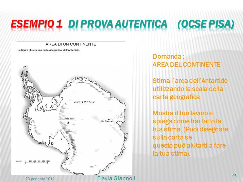 Esempio 1 di prova autentica (OCSE PISA)