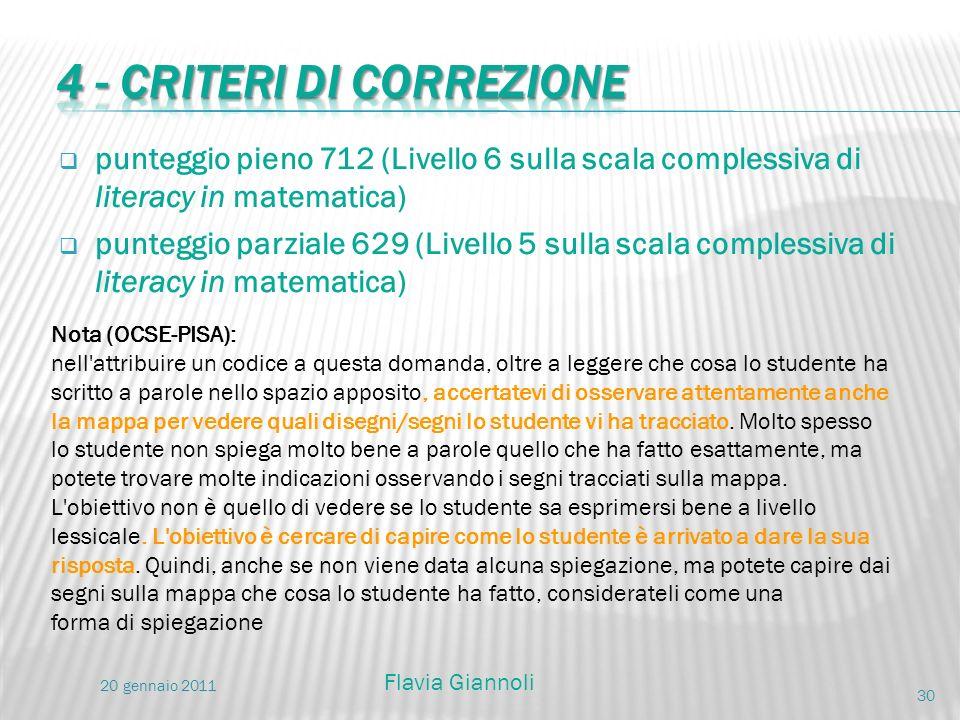 4 - Criteri di correzione
