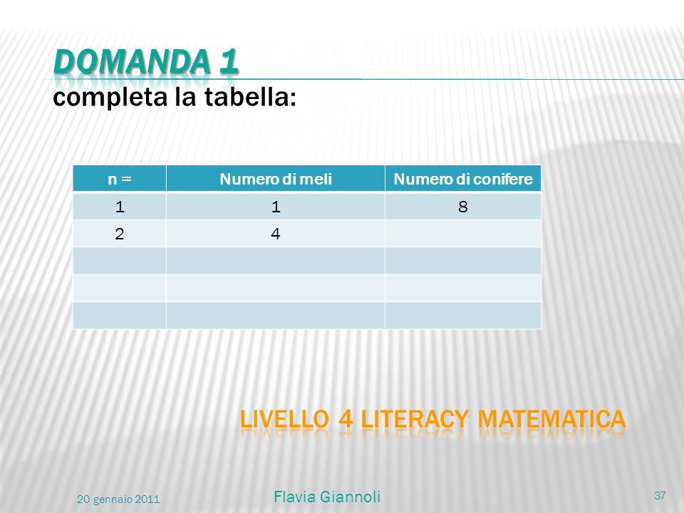 Livello 4 literacy matematica