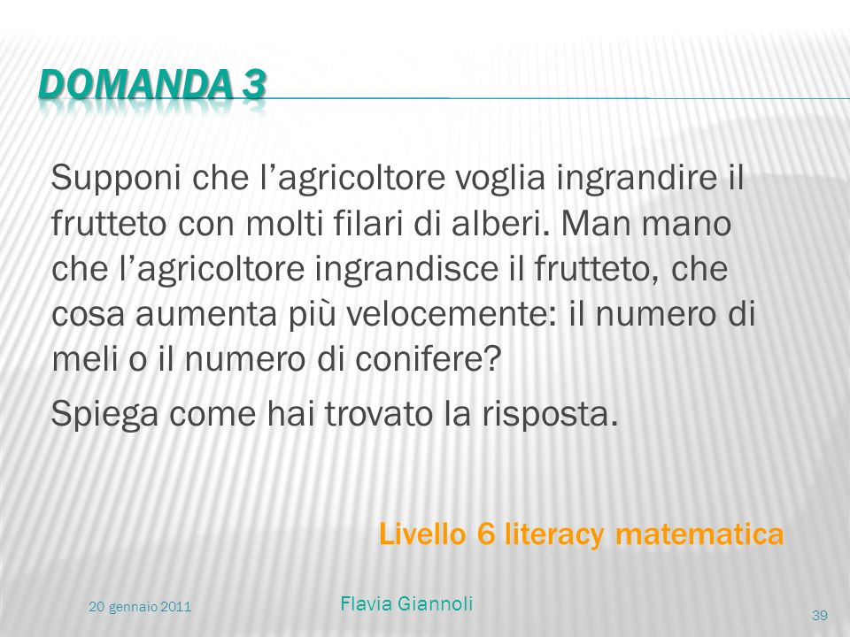 Domanda 3