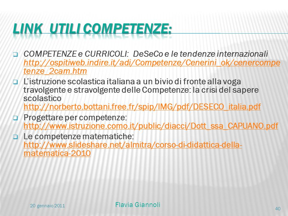 LINK utili competenze: