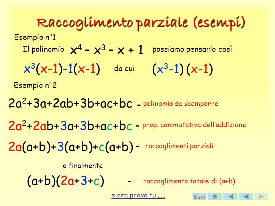 Raccoglimento parziale (esempi)