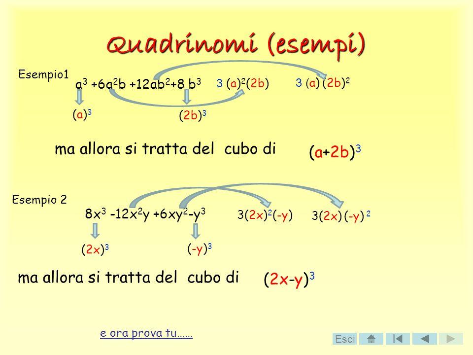 Quadrinomi (esempi) ma allora si tratta del cubo di (a+2b)3