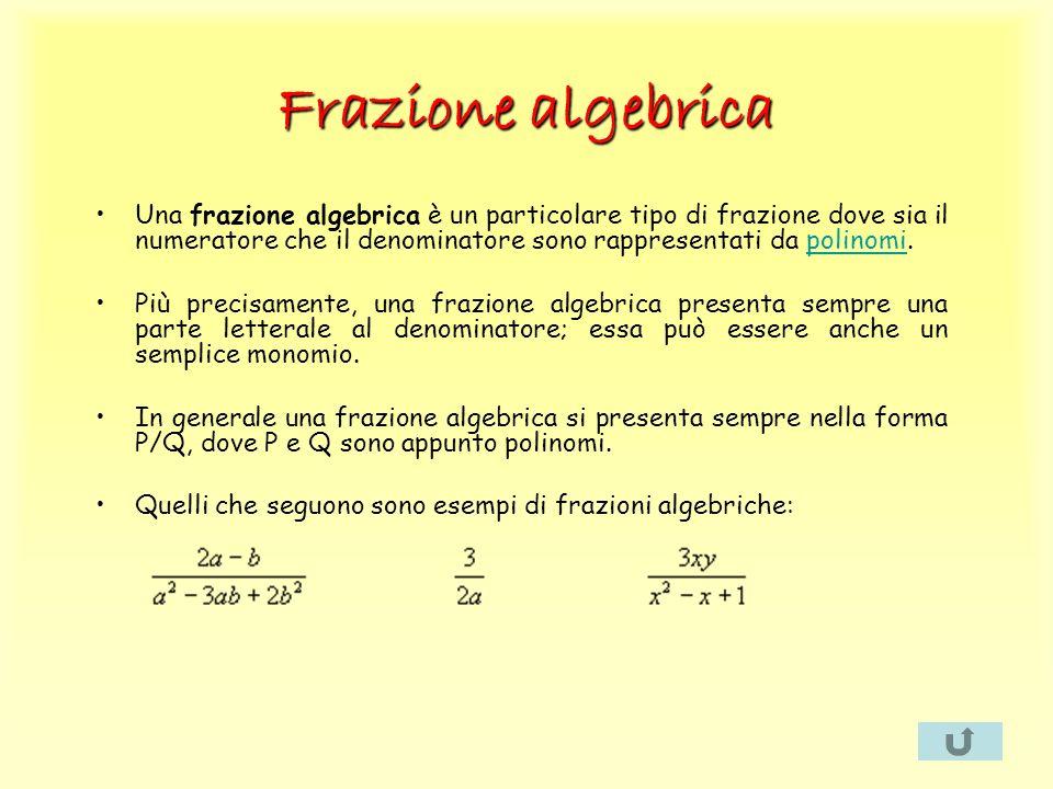 Frazione algebrica