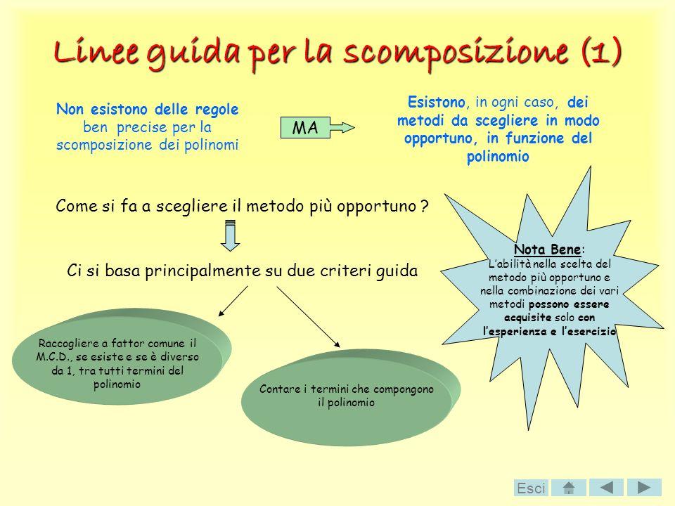Linee guida per la scomposizione (1)