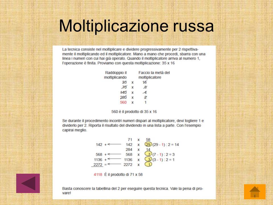 Moltiplicazione russa