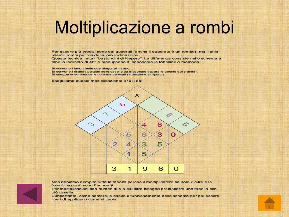 Moltiplicazione a rombi