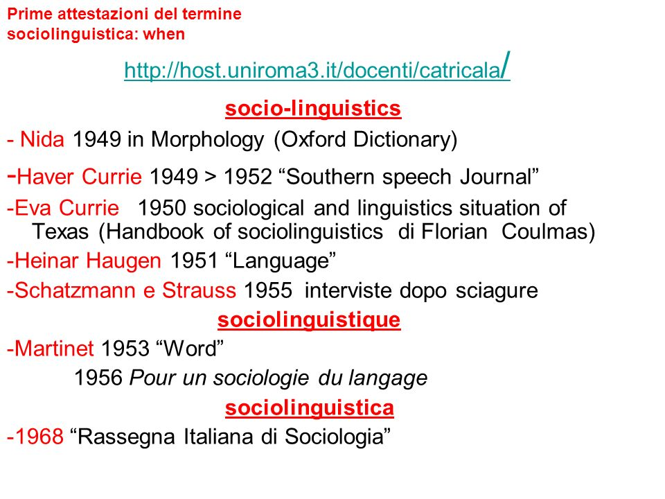 http://host.uniroma3.it/docenti/catricala/ socio-linguistics