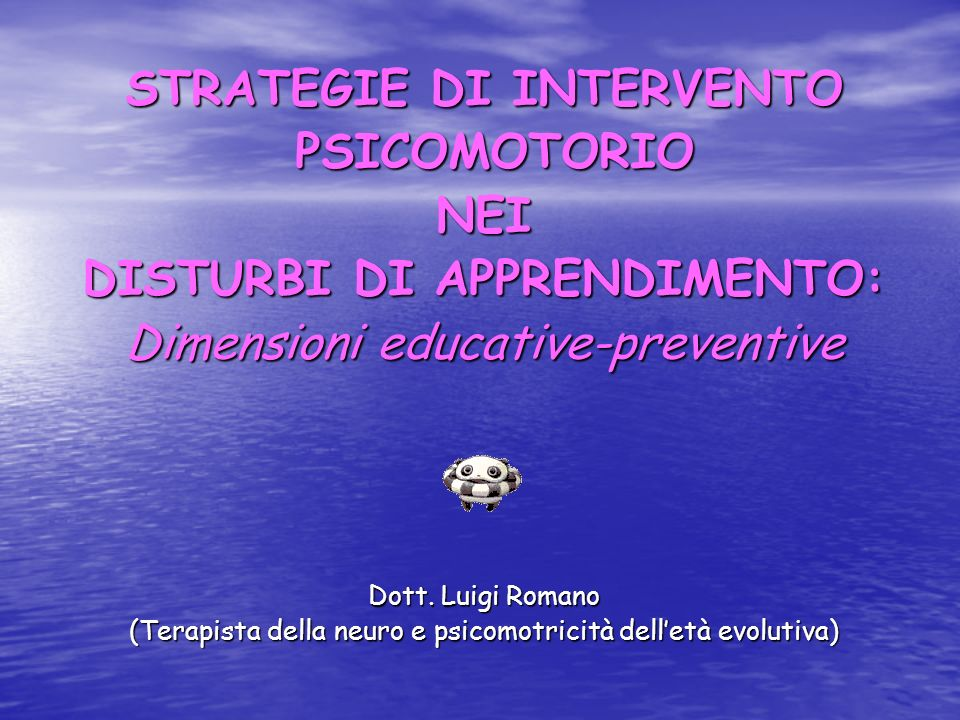 STRATEGIE DI INTERVENTO DISTURBI DI APPRENDIMENTO:
