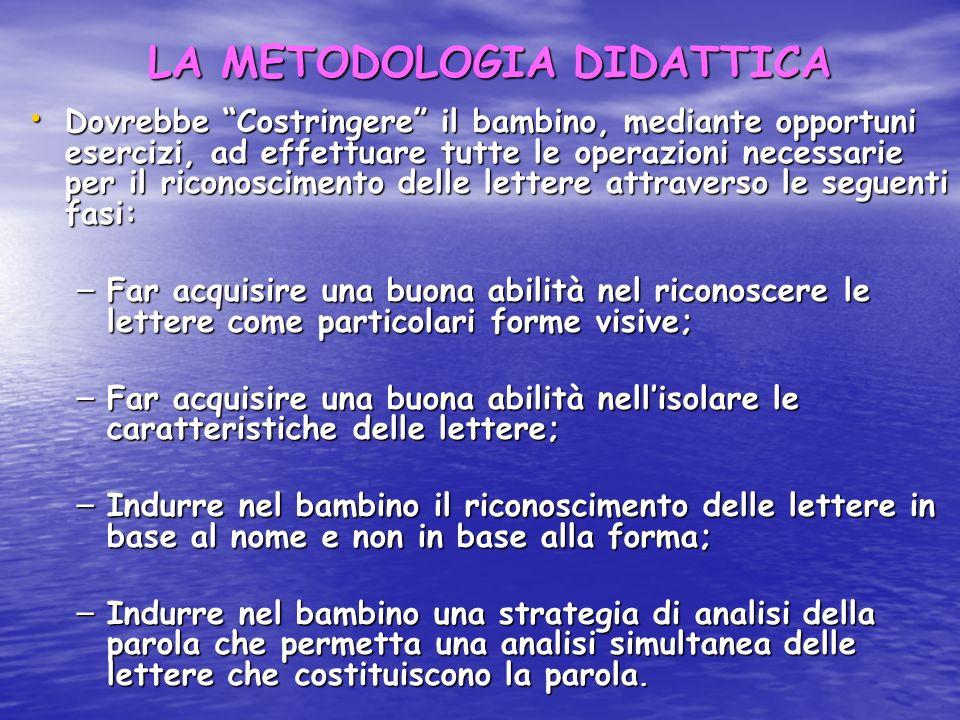 LA METODOLOGIA DIDATTICA