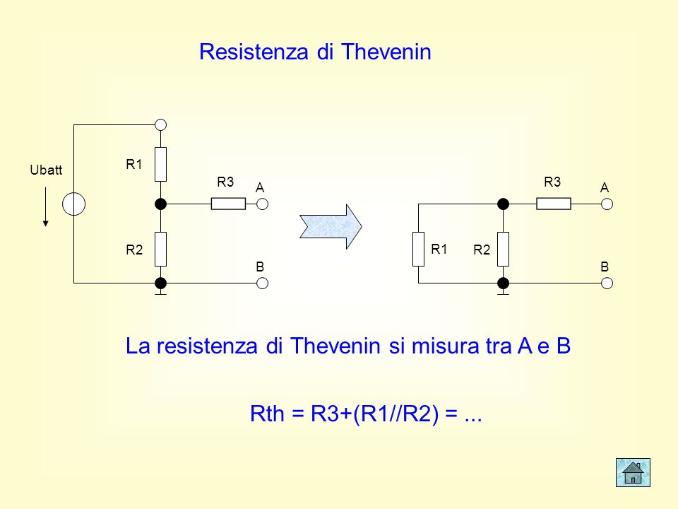 Resistenza di Thevenin
