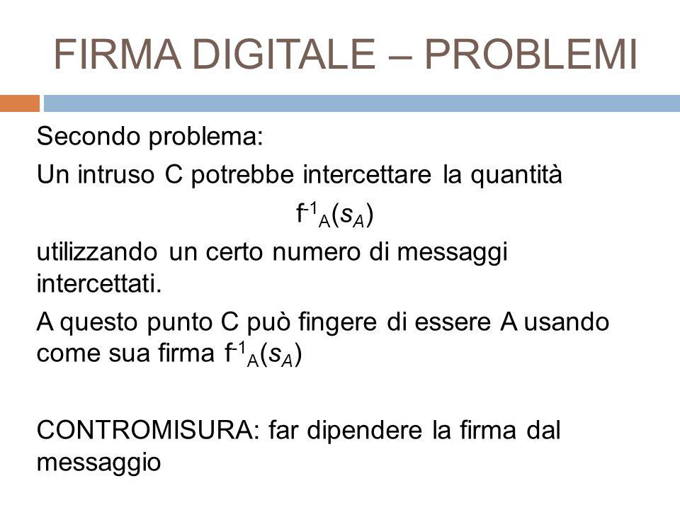 FIRMA DIGITALE – PROBLEMI
