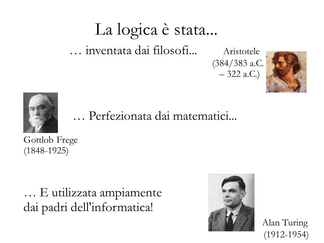 La logica è stata... … inventata dai filosofi... Aristotele