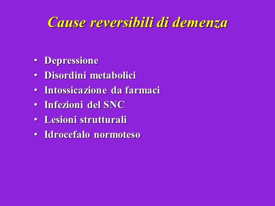 Cause reversibili di demenza