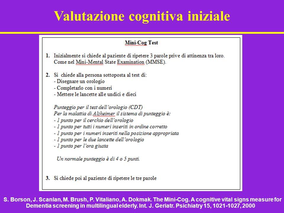 Valutazione cognitiva iniziale