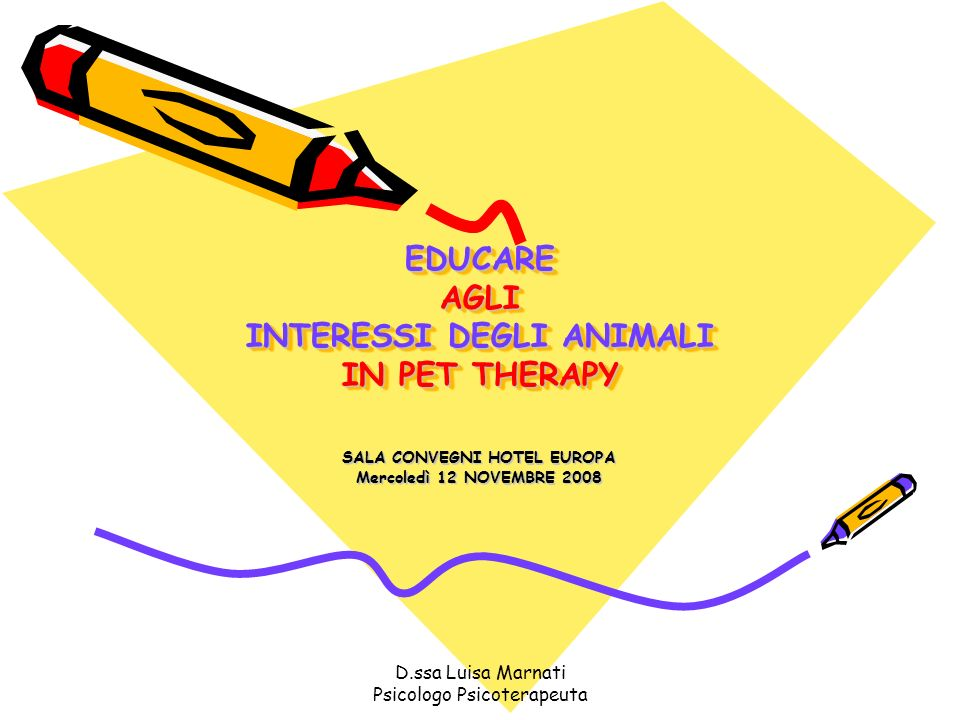 EDUCARE AGLI INTERESSI DEGLI ANIMALI IN PET THERAPY