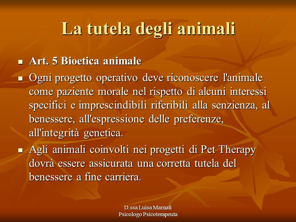 La tutela degli animali