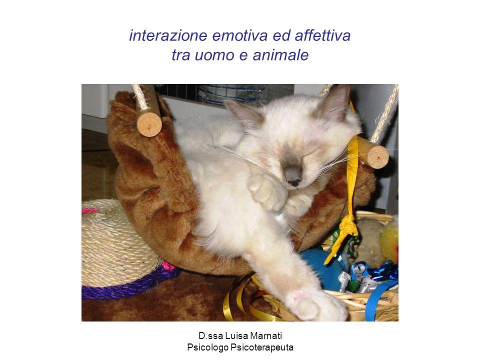 interazione emotiva ed affettiva tra uomo e animale