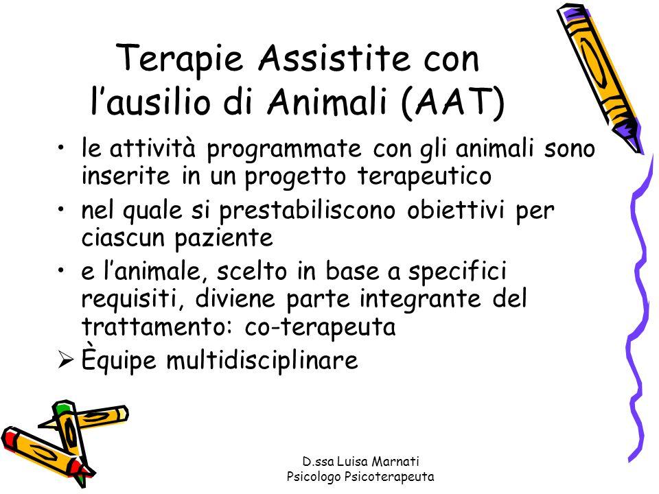 Terapie Assistite con l'ausilio di Animali (AAT)