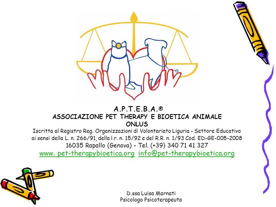ASSOCIAZIONE PET THERAPY E BIOETICA ANIMALE