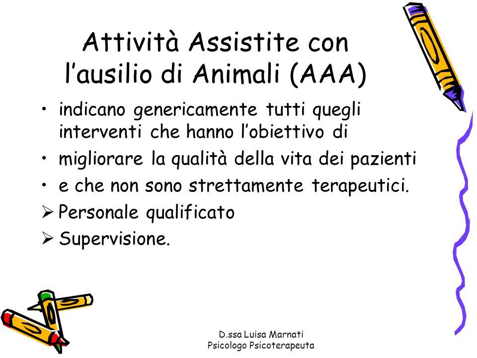 Attività Assistite con l'ausilio di Animali (AAA)