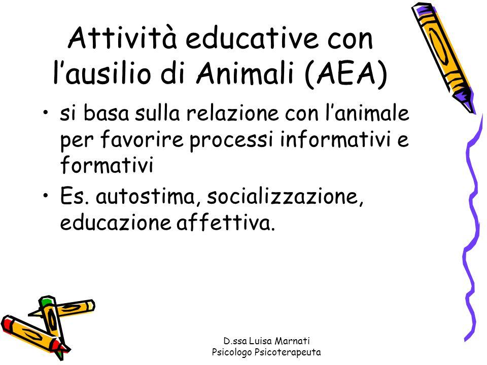 Attività educative con l'ausilio di Animali (AEA)