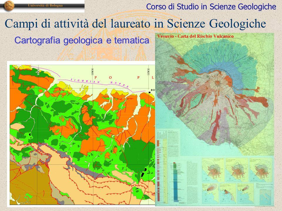 Campi di attività del laureato in Scienze Geologiche