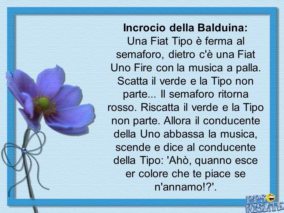 Incrocio della Balduina: Una Fiat Tipo è ferma al semaforo, dietro c è una Fiat Uno Fire con la musica a palla.