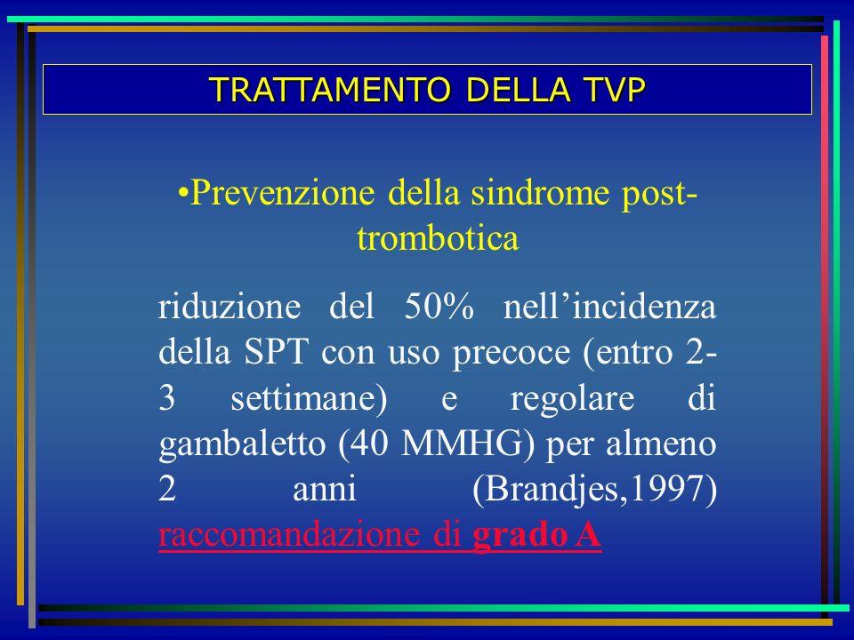 Prevenzione della sindrome post-trombotica