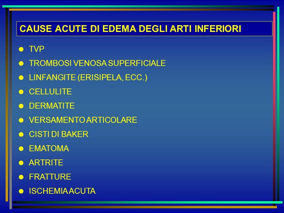 CAUSE ACUTE DI EDEMA DEGLI ARTI INFERIORI