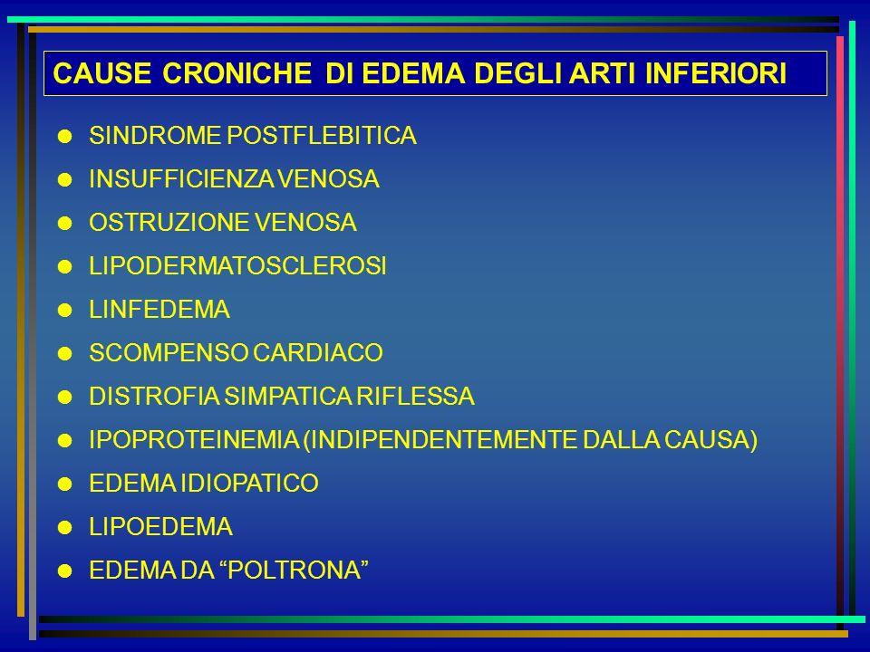 CAUSE CRONICHE DI EDEMA DEGLI ARTI INFERIORI