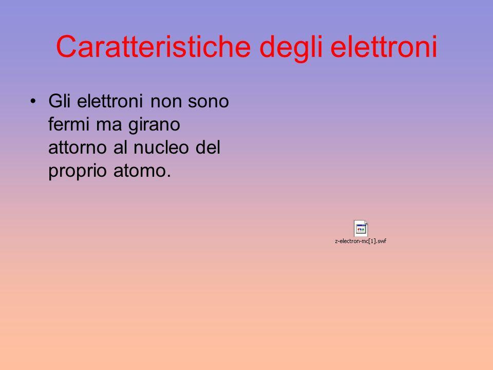 Caratteristiche degli elettroni