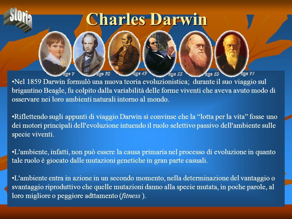Charles Darwin storia.