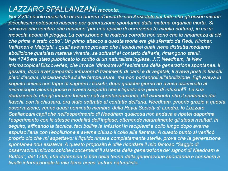 LAZZARO SPALLANZANI racconta: